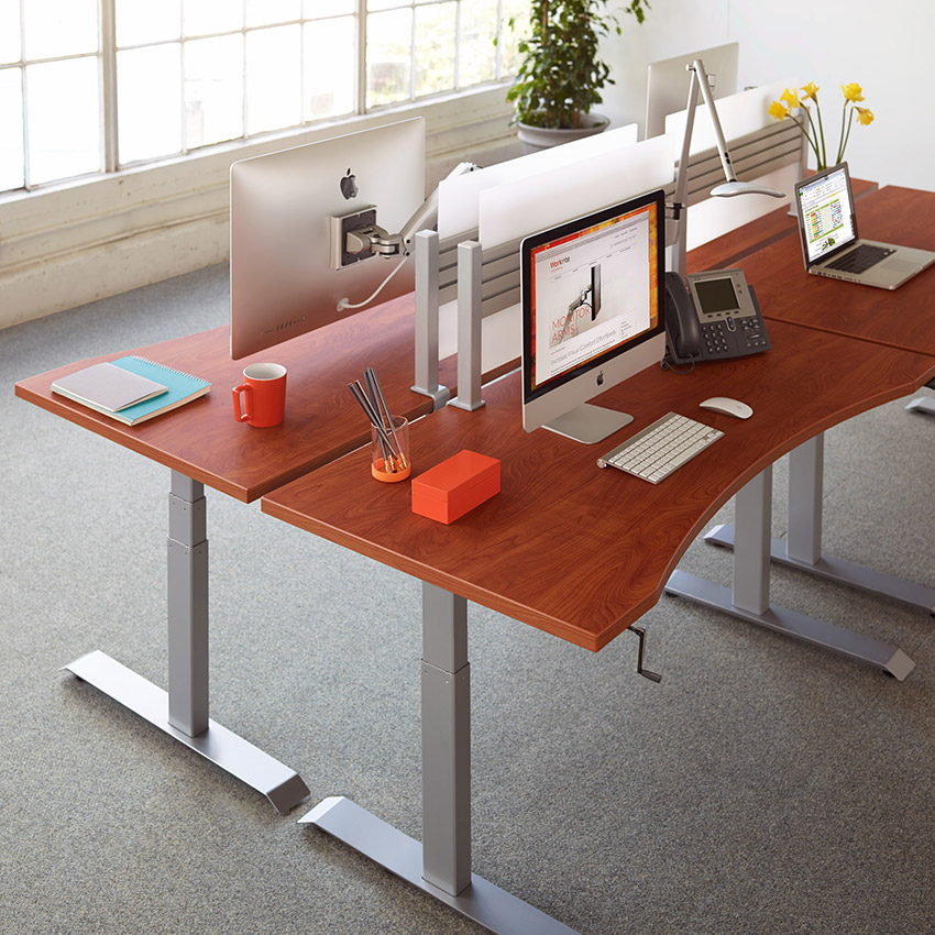Sierra Hxl Crank Height Adjustable Desk Workrite Ergonomics