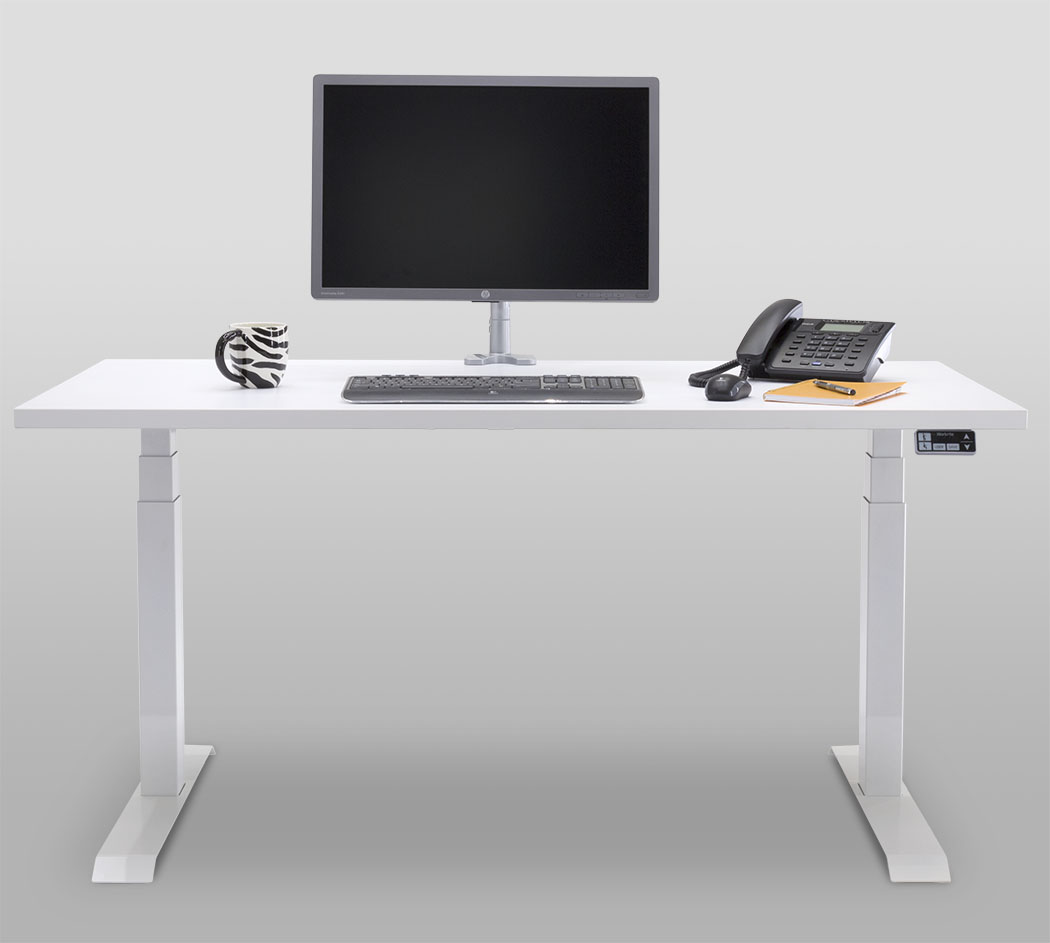 Essentia Workcenter 2-leg White Front
