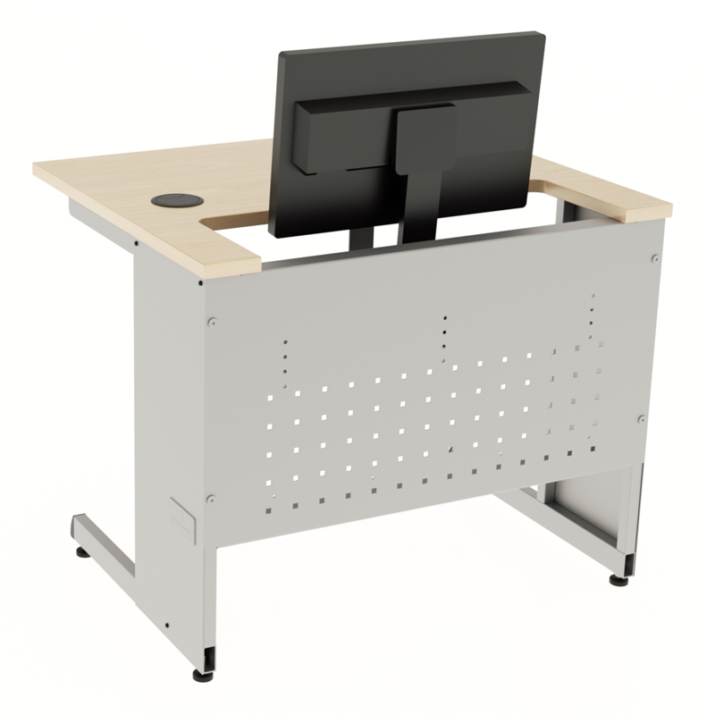 Basic Amp Recessed Computer Desks Workrite Ergonomics