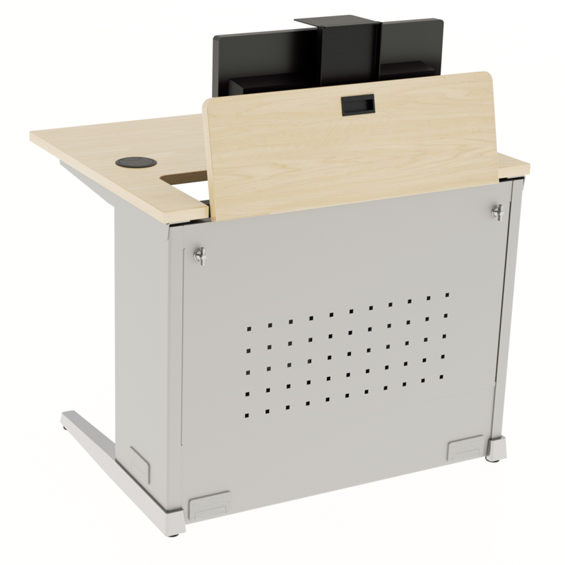 Single User Manual Computer Training Desk - Workrite Ergonomics
