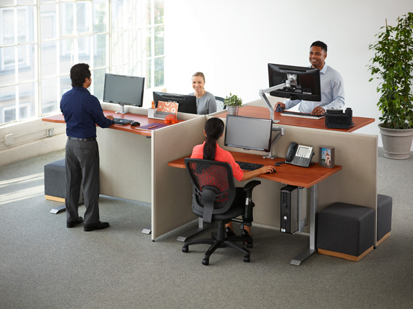 Fundamentals, electric, frameset, workcenter, table, desk, height, adjustable, work, center, ergonomics, ergonomic, energy, efficient