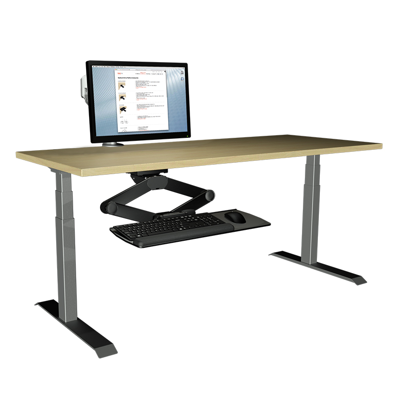 compact sit stand keyboard mount
