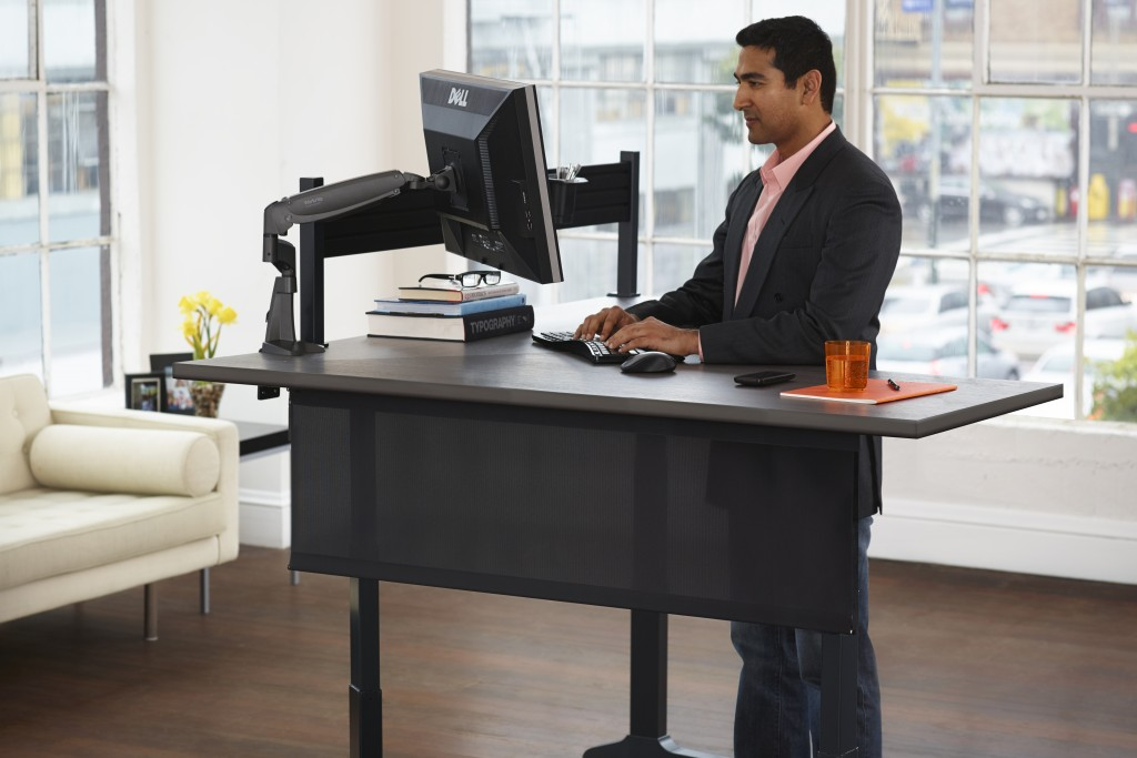 folding product height sitting office electronic detail adjustable modern table by desk legs standing