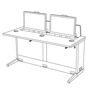 computer-desk-dual-user-single-monitor