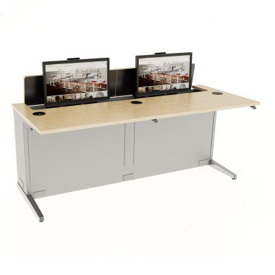 dual-user-electric-computer-desk