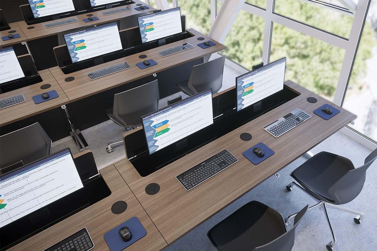 Line Of Sight Computer Desks Workrite Ergonomics