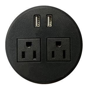 LOS Power USB Grommet - LOS3-DTP-2P2USBC-BK
