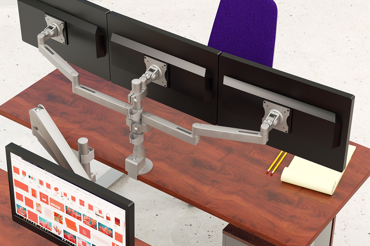 Peachy Monitor Arms Adjustable Monitor Mounts Workrite Ergonomics Download Free Architecture Designs Scobabritishbridgeorg