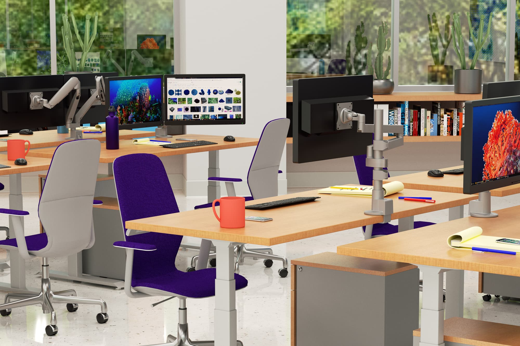 Monitor Arms - Adjustable Monitor Mounts - Workrite Ergonomics